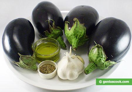 Ingredienti per le melanzane sott'olio