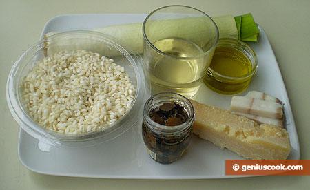 ingredienti per il Risotto al tartufo nero estivo