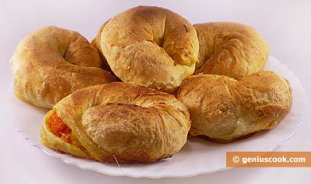 Croissant (cornetti) ripieni con zucca