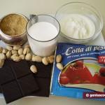 """Ingredienti per la """"Panna Cotta"""" con cioccolato e pistacchi"""