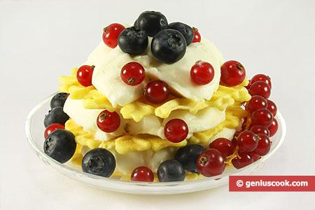 """Dessert con """"Panna e frutti di bosco"""""""