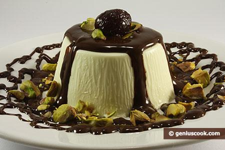 Panna Cotta con cioccolato e pistacchi