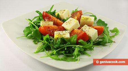 Insalata con Rucola, Pomodori e Mozzarella