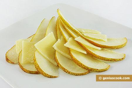 Carpaccio di Pere e formaggio Parmigiano