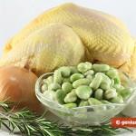 Ingredienti per il Cappone al forno, ripieno con fave