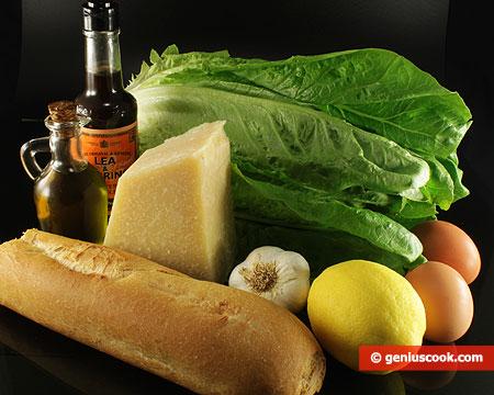Ingredienti dell'Insalata Caesar, originale
