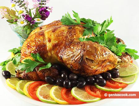 Курица запеченная в тесте рецепт.