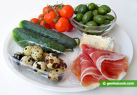 Ingredienti per l'Antipasto Pasquale