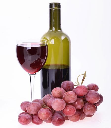 Vino rosso e uva rossa