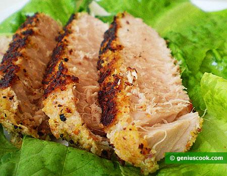 Tagliata di tonno con pistacchi e capperi