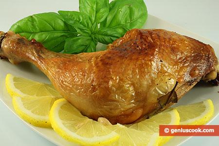 Coscia di pollo al forno