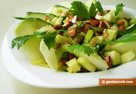 Insalata di mela verde e sedano