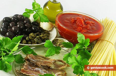 Alcuni ingredienti della Dieta Mediterranea
