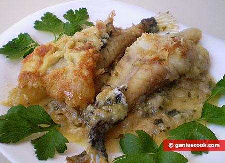 Coda di rospo (rana pescatrice) in salsa allo zenzero