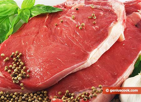 Fette di carne di manzo