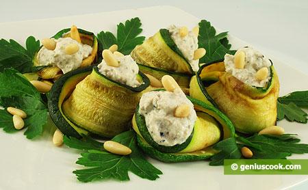 Zucchini grigliati con ricotta e tartufo nero