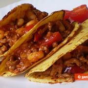 Taco, messicano, con carne