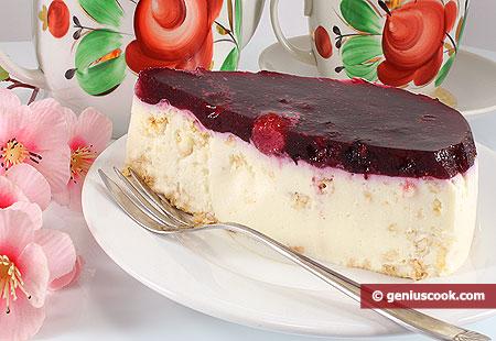 Porzione di Cheesecake ai frutti di bosco