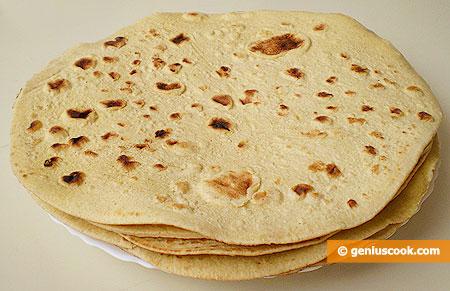 Tortillas di farina di frumento