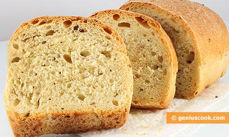 Pane con semi di sesamo tostati