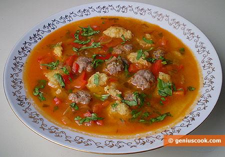 Minestra con polpette e gnocchi russi cucina russa for Cucina russa