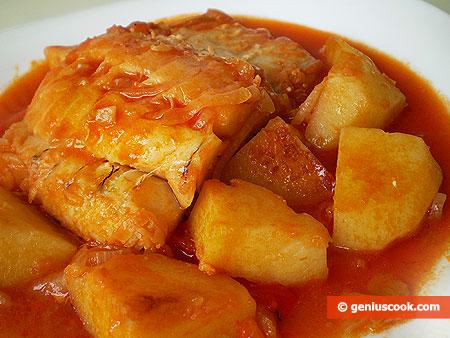 Baccalà stufato con patate