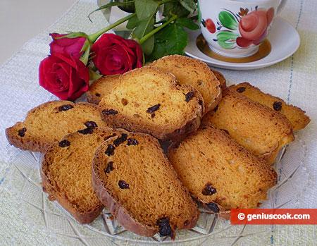 Biscotti alla vaniglia e uva sultanina