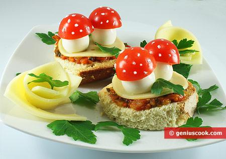tartine con uova di quaglia, formaggio e pomodori | alimentazione ... - Cucinare Uova Di Quaglia