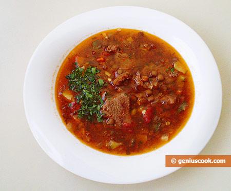 Zuppa di lenticchie e agnello