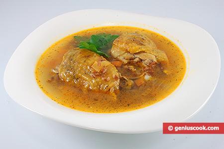 Zuppa di faraona con riso integrale