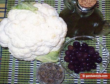 Cavolfiore olive e capperi