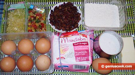 ingredienti per il Panettone fatto in casa