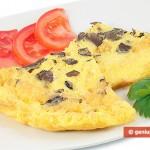Frittata di uova di quaglia al tartufo nero