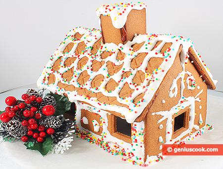 Casa di biscotti allo zenzero