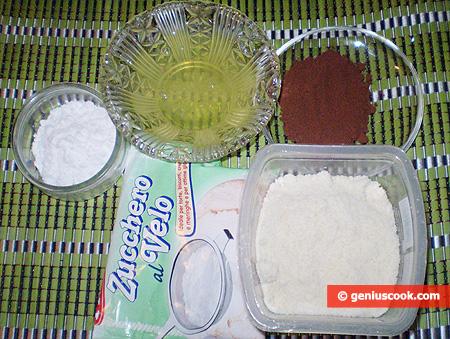 Ingredienti per i Biscotti di Mandorle al Cioccolato farciti