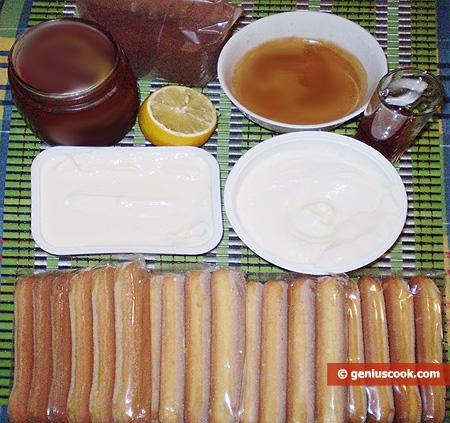 Ingredienti per il Tiramisù con Dulche de Leche