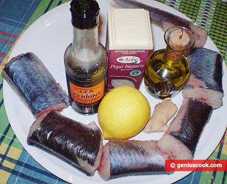 ingredienti per il Capitone marinato in padella