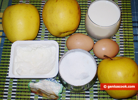 Ingredienti per le Frittelle di mele