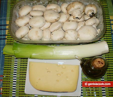 ingredienti per i Funghi con porri e formaggio
