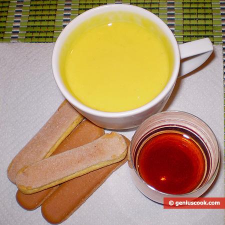 Ingredienti per il Tiramisù in calice con Crema Inglese