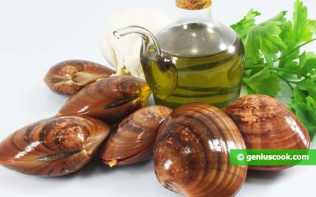 Ingredienti per il Sautè di Fasolari