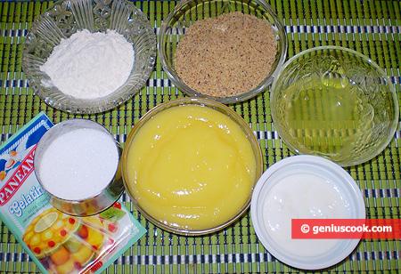 Ingredienti per la Torta con mousse al limone e yogurt