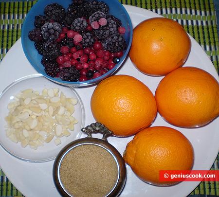 Ingredienti per la Gelatina all'arancia e frutti di bosco