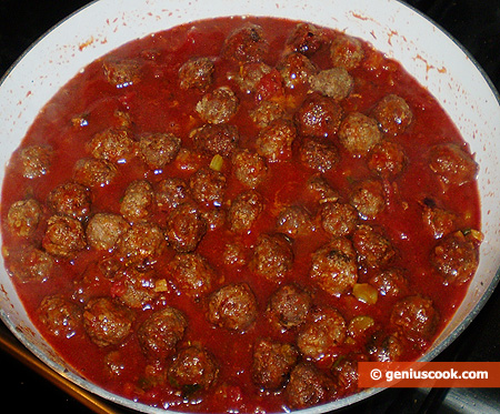 polpettine in salsa di pomodoro