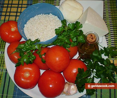 Ingredienti per i Pomodori ripieni ai formaggi