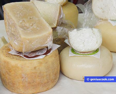 Vari tipi di formaggio pecorino