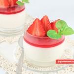 Budino di crema con fragole (Malabi)