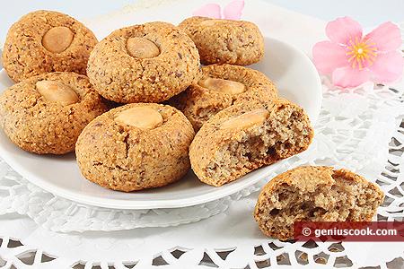 Biscotti al caffè e nocciole con mandorle