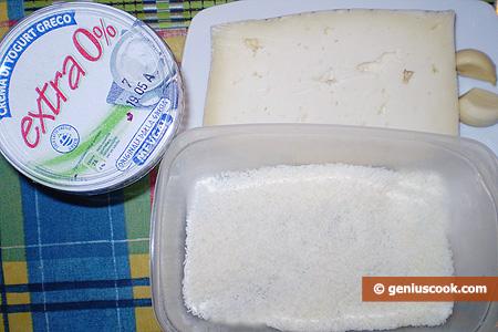 Ingredienti per i Bocconcini di formaggio al sesamo