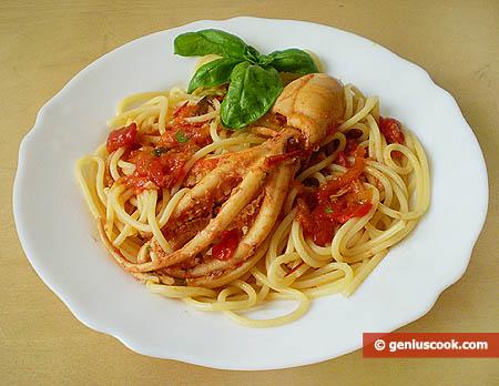 Spaghetti con moscardini